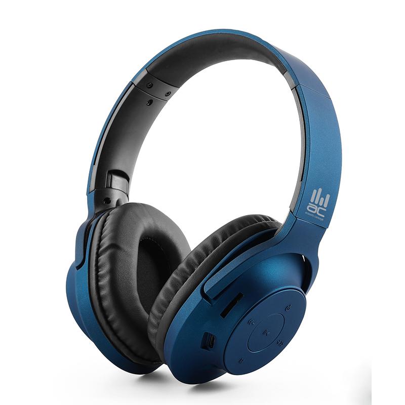 אוזניות אלחוטיות בסגנון Over-Ear עם נגן MP3 מובנה