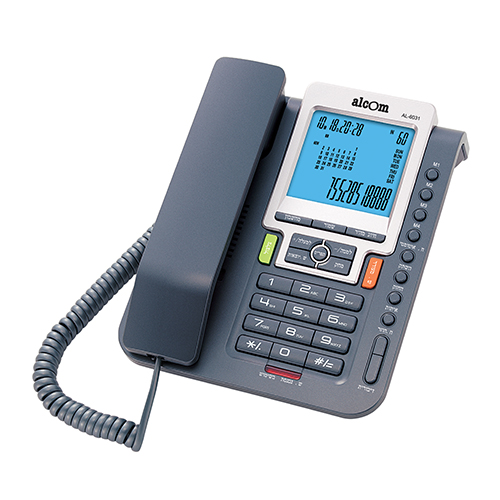 טלפון שולחני מתקדם עם שיחה מזוהה ומקשי חיוג מהירים