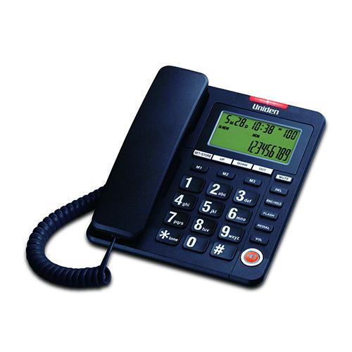 טלפון שולחני עם צג ענק, מקשים גדולים וזיכרונות מהירים