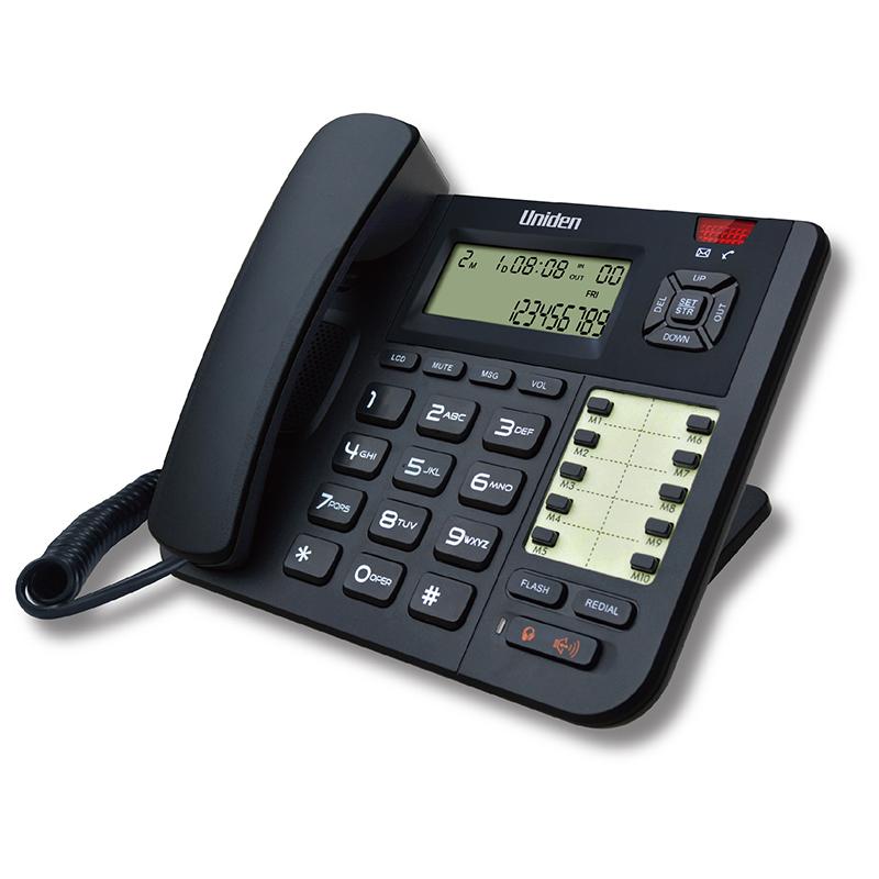 טלפון שולחני עם צג שיחה מזוהה ודיבורית, מתאים למערכות ראש
