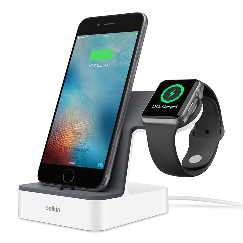 עמדת טעינה לאייפון ול- Apple Watch