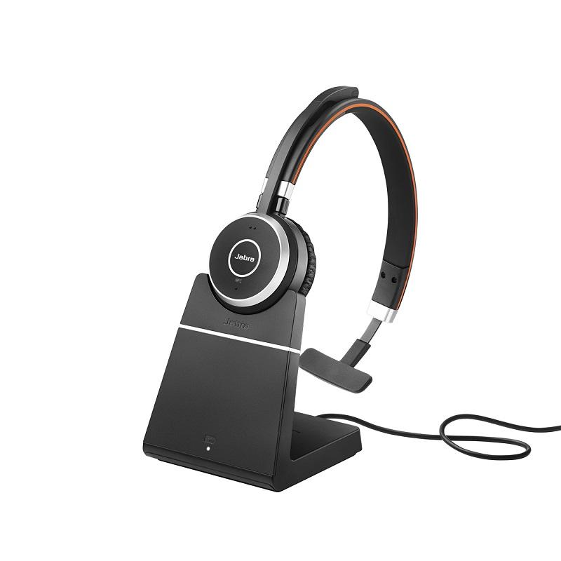 מערכת ראש מקצועית אלחוטית ל-VOIP דגם MS Mono עם מעמד טעינה
