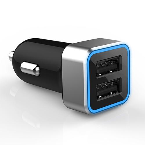 מטען לרכב עם 2 יציאות USB 3.1A