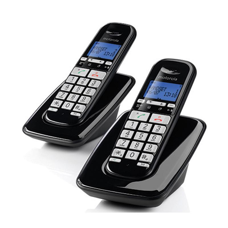 טלפון אלחוטי עם שלוחה נוספת ותפריט בעברית