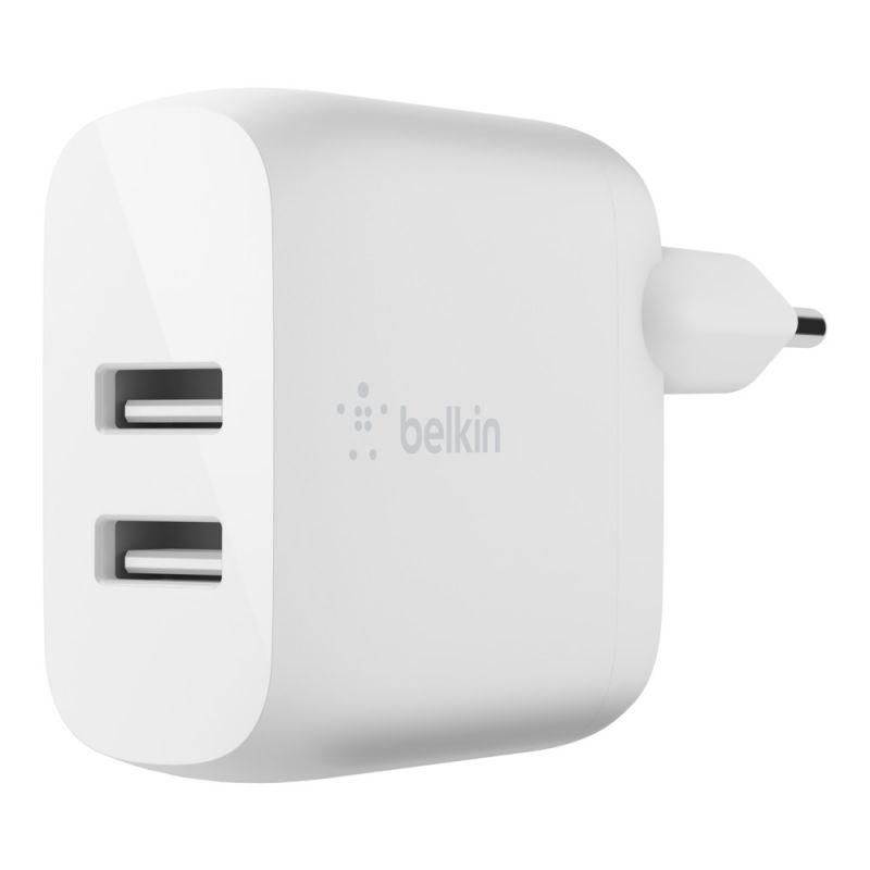 מטען קיר כפול 24W USB-A Belkin