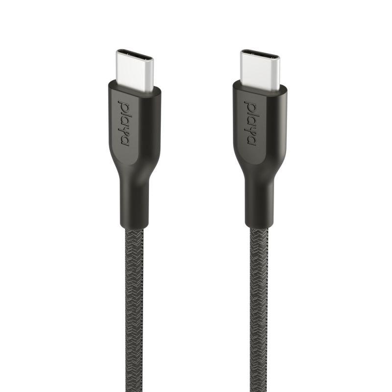 כבל USB-C ל- USB-C קלוע, באורך מטר
