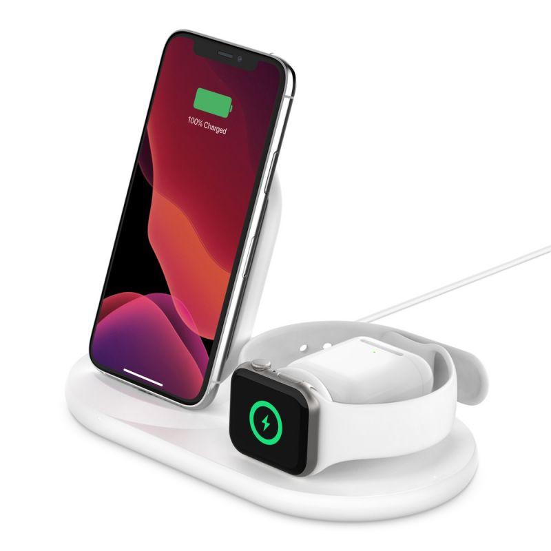 מטען אלחוטי 3 ב-1 ל-Apple דגם Belkin BOOST↑CHARGE