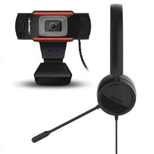 ערכת הזום המושלמת: מצלמה 720P ואוזניה עם מיקרופון למחשב