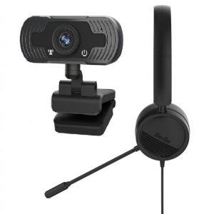 ערכת הזום המושלמת: מצלמה 1080P ואוזניה עם מיקרופון למחשב