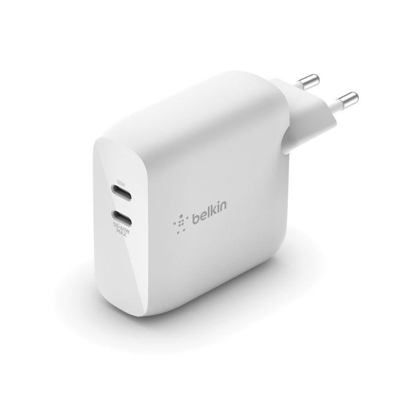 מטען קיר מהיר כפול דור חדש GaN 68W USB-C