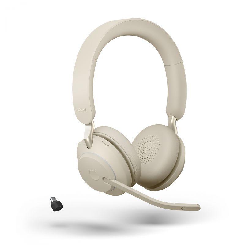 מערכת ראש אלחוטית סטריאו עם סינון רעשים פסיבי בחיבור USB-C מותאם ל-MS