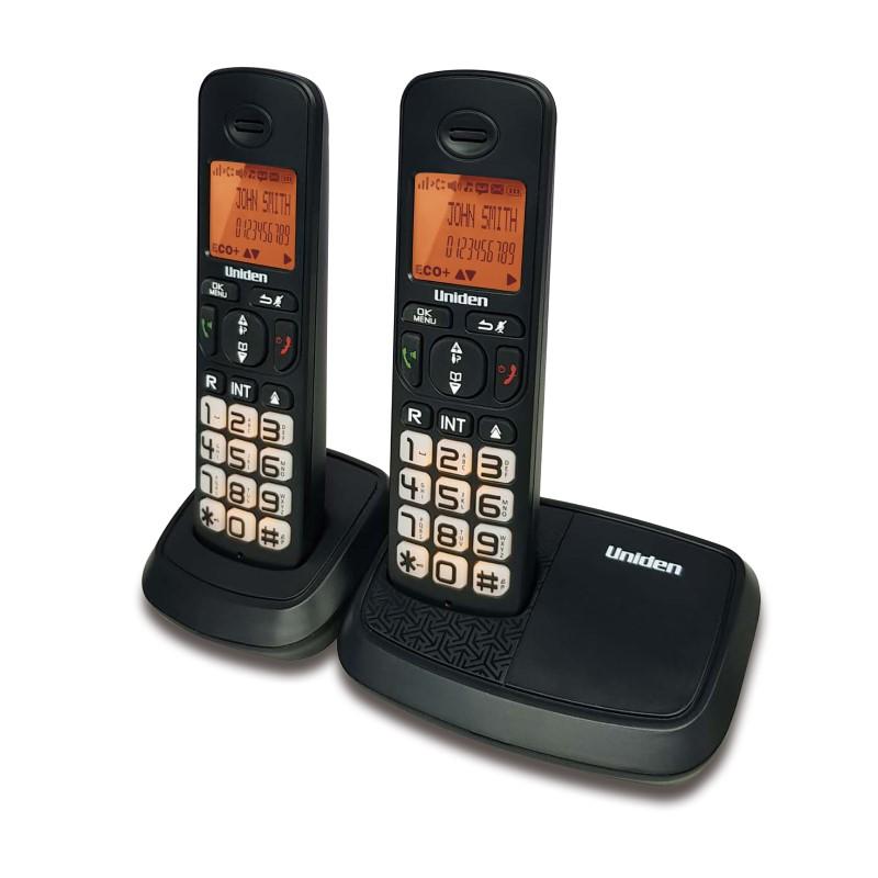 טלפון אלחוטי עם צג שיחה מזוהה ודיבורית + שלוחה