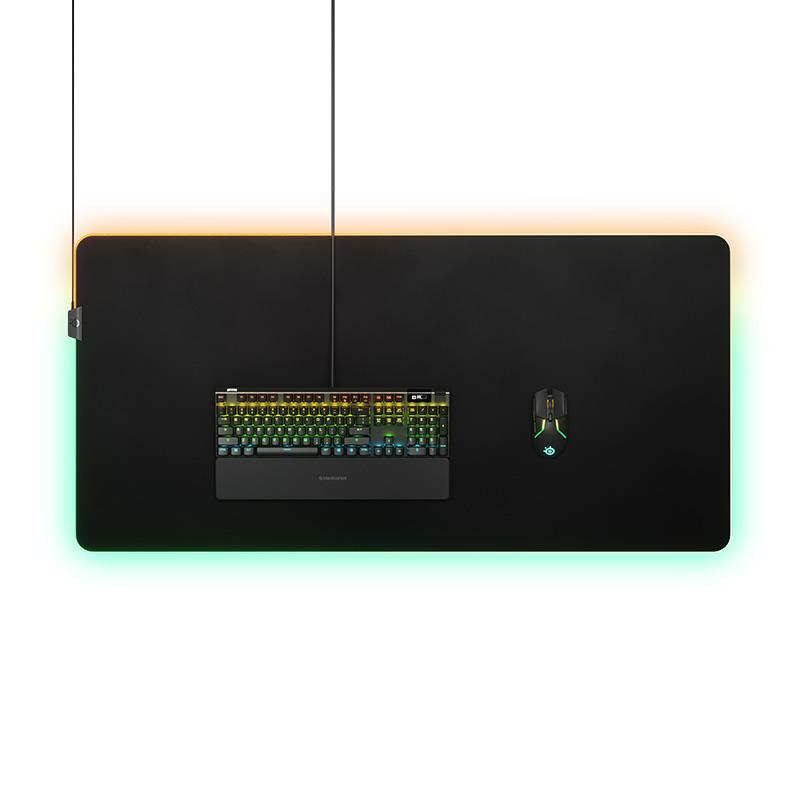 משטח ענק לעכבר 3XL עם תאורת RGB - בגודל של השולחן!
